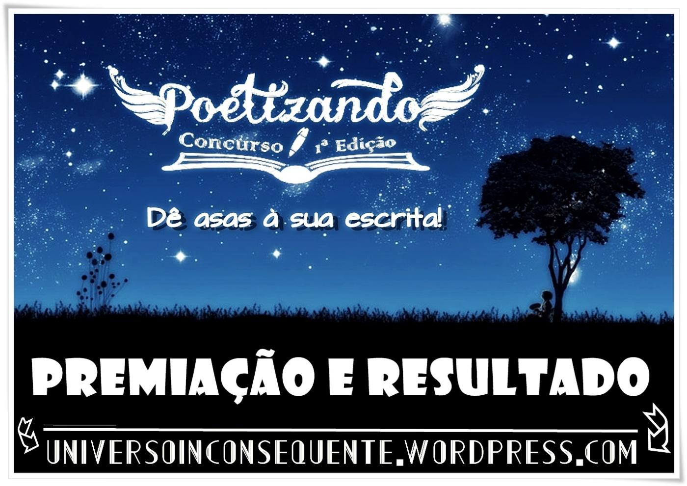 BANNER POETIZANDO PREMIAÇAO E RESULTADO